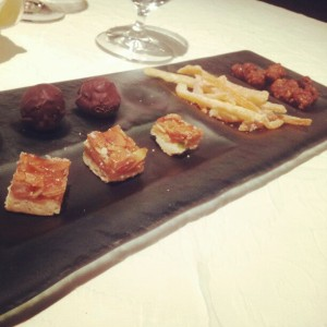 Delightful little petit fours, compliments of the chef