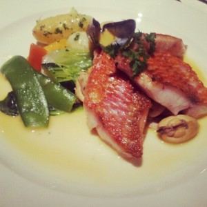 My main course of red mullet