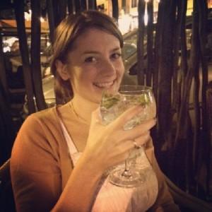 Enjoying a small gin