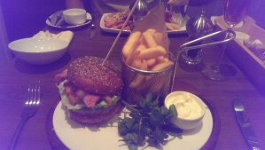 Sensational lobster burger for me!