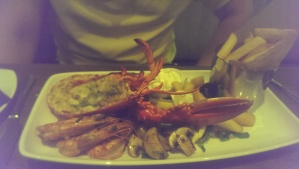 A sizeable surf and turf for Tom