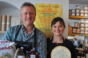 Iain and Sally Hemming, owners of Thyme & Tides who will be putting on a food festival on 18th April