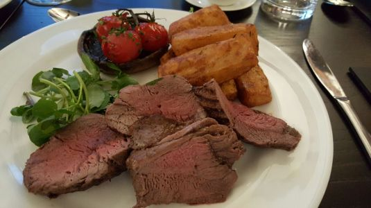 A sizeable portion of chateaubriand steak!