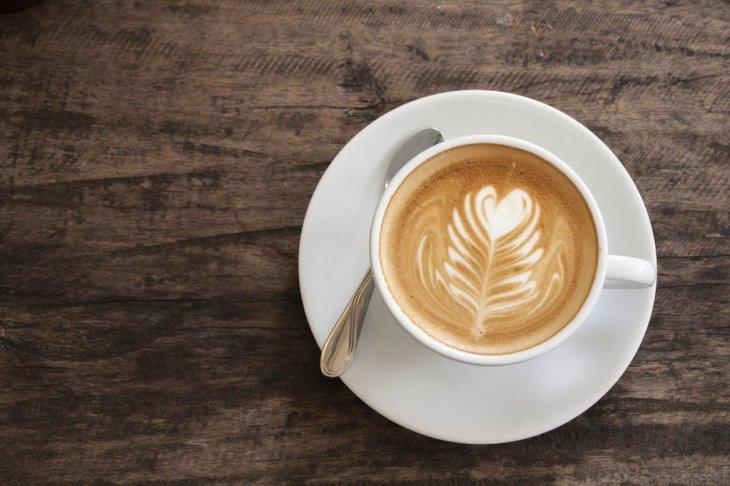 Cup of heart latte art