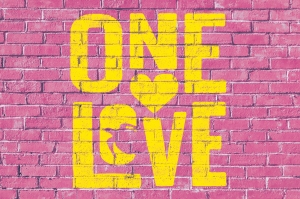 One Love Type Wall2